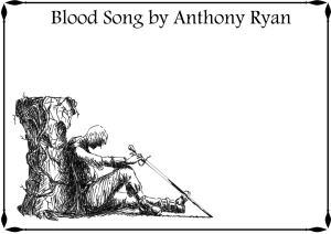 Blood Song Bookplate unsigned